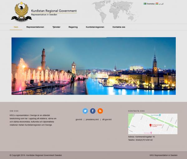 Kurdistan Regional Government Website Design