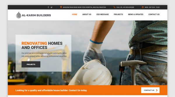 Construction Company – Al Karim Builders
