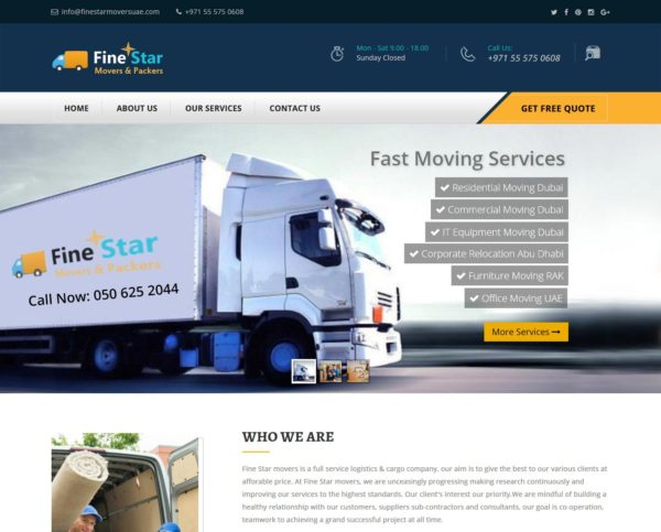 Fine Star Moving Company UAE
