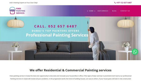 Painting Services Web Design