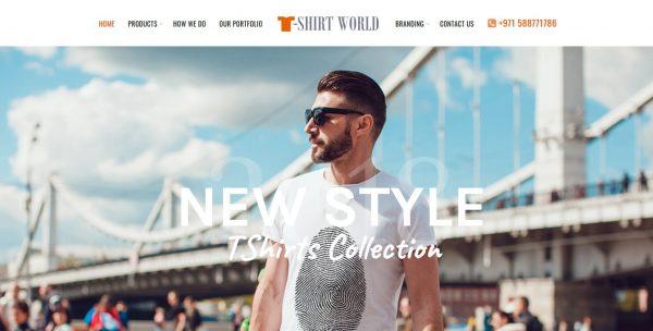 T-Shirt Design Company Website